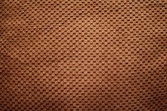 Texture brune de luxe avec le bouton Photo libre de droits