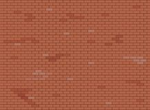 Texture brune et rouge abstraite de fond de mur de briques, illustration de vecteur illustration stock