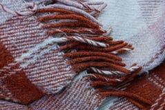 Texture brune grise d'un morceau de couverture de laine Image libre de droits