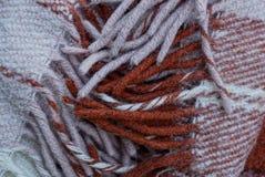 Texture brune grise d'un morceau de couverture de laine Photos stock