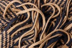 Texture brune grise d'un morceau de couverture de laine Images libres de droits