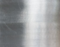 Texture of brushed steel plate Stock Image