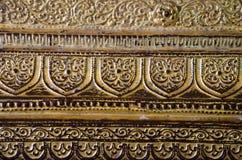 Texture at a Buddha image base Royalty Free Stock Photos