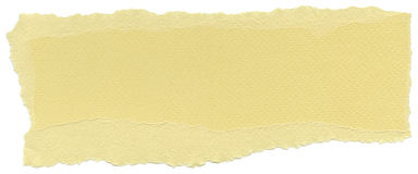 Isolated Fiber Paper Texture - Buff Yellow XXXXL. Texture of buff yellow fiber paper with torn edges. Isolated on white background Royalty Free Stock Photos