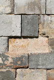 The texture of the building blocks. Photographed in close-up stock photography