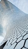 Texture of the building Soumaya in the form of a honeycomb. Modern architecture and the Museum building in the centre of Mexico city Royalty Free Stock Photography