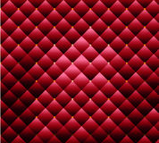 Texture bulk upholstery fabric with buttons red Stock Images