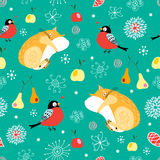 Texture bullfinch and cats Stock Photography