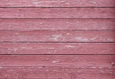 Texture of burgundy wood with scuffs. Vintage royalty free stock photos