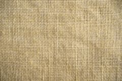 Texture of burlap. Flax. Textile background close up. Macro. Royalty Free Stock Photography