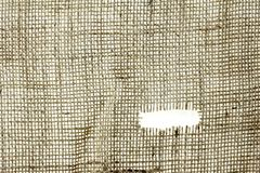 Texture of Burlap hessian  with frayed edges Royalty Free Stock Images