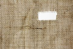 Texture of Burlap hessian  with frayed edges Stock Photos