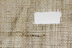 Texture of Burlap hessian  with frayed edges Royalty Free Stock Photos