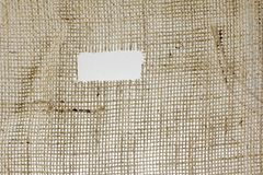Texture of Burlap hessian  with frayed edges Stock Image