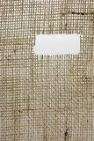 Texture of Burlap hessian  with frayed edges Royalty Free Stock Image