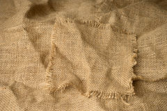 Texture of burlap  hessian with frayed edges Royalty Free Stock Photography
