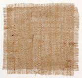 Texture of Burlap hessian square with frayed edges Stock Images
