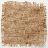 Texture of Burlap hessian square with frayed edges Royalty Free Stock Photography