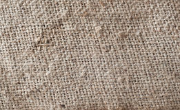 Texture of burlap sack Stock Images