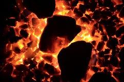 Texture of burning coal. Royalty Free Stock Photos