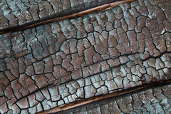 Texture of burnt wood Stock Image