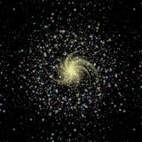 Texture of burst star in space Stock Photography