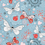 Texture with butterflies Royalty Free Stock Photography