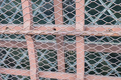 Texture the cage metal net Stock Photos