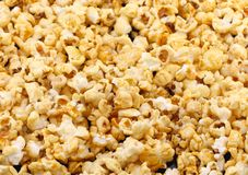 Texture of caramel popcorn. Close-up. Stock Image
