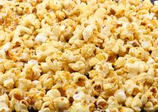 Texture of caramel popcorn. Close-up. Royalty Free Stock Images