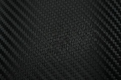 Texture of Carbon Fiber Sticker.Luxury black material Royalty Free Stock Photo