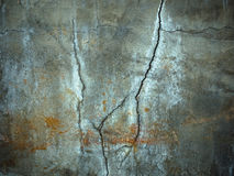 Texture of Carck on Cement Wall Royalty Free Stock Images