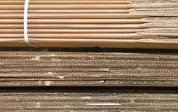Texture of cardboards pile Royalty Free Stock Images