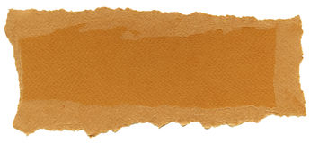 Isolated Fiber Paper Texture - Carrot Orange XXXXL. Texture of carrot orange fiber paper with torn edges. Isolated on white background Royalty Free Stock Photos