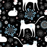 Texture cats and rabbits Stock Image