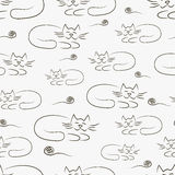 Texture with cats Royalty Free Stock Photo