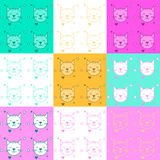 Texture with cats. Vector illustration Stock Image