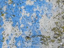 Texture of the cement wall. Texture with blue and white paintTexture of the cement wall with blue and white paint. Royalty Free Stock Photo