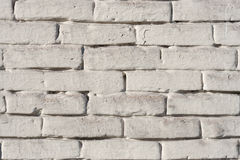 Texture white brick. The texture of the ceramics wall is painted white. Background of white bricks. Stock Photos