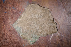 Texture from characteristic decayed Venetian plaster Royalty Free Stock Photo