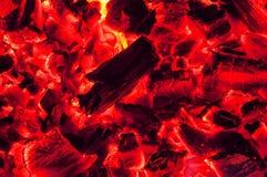 Texture chaude de charbons photo libre de droits