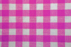 The texture of checkered fabric as a background. Royalty Free Stock Photography