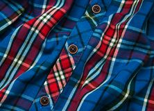 Texture of checkered fabric. Texture of the  checkered fabric pattern background Stock Photo