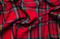 Texture of checkered fabric. Texture of the  checkered fabric pattern background Stock Photography