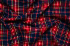 Texture of checkered fabric. Texture of the  checkered fabric pattern background Stock Image