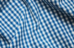 Texture of checkered fabric. Texture of the  checkered fabric pattern background Stock Images