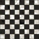 Texture checkered noire et blanche sans joint Images libres de droits
