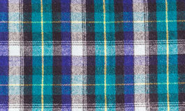 Texture of checkered woolen fabric Royalty Free Stock Photo