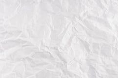 Texture chiffonnée de livre blanc Images libres de droits
