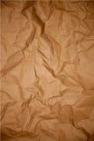 Texture chiffonnée de papier brun Images libres de droits